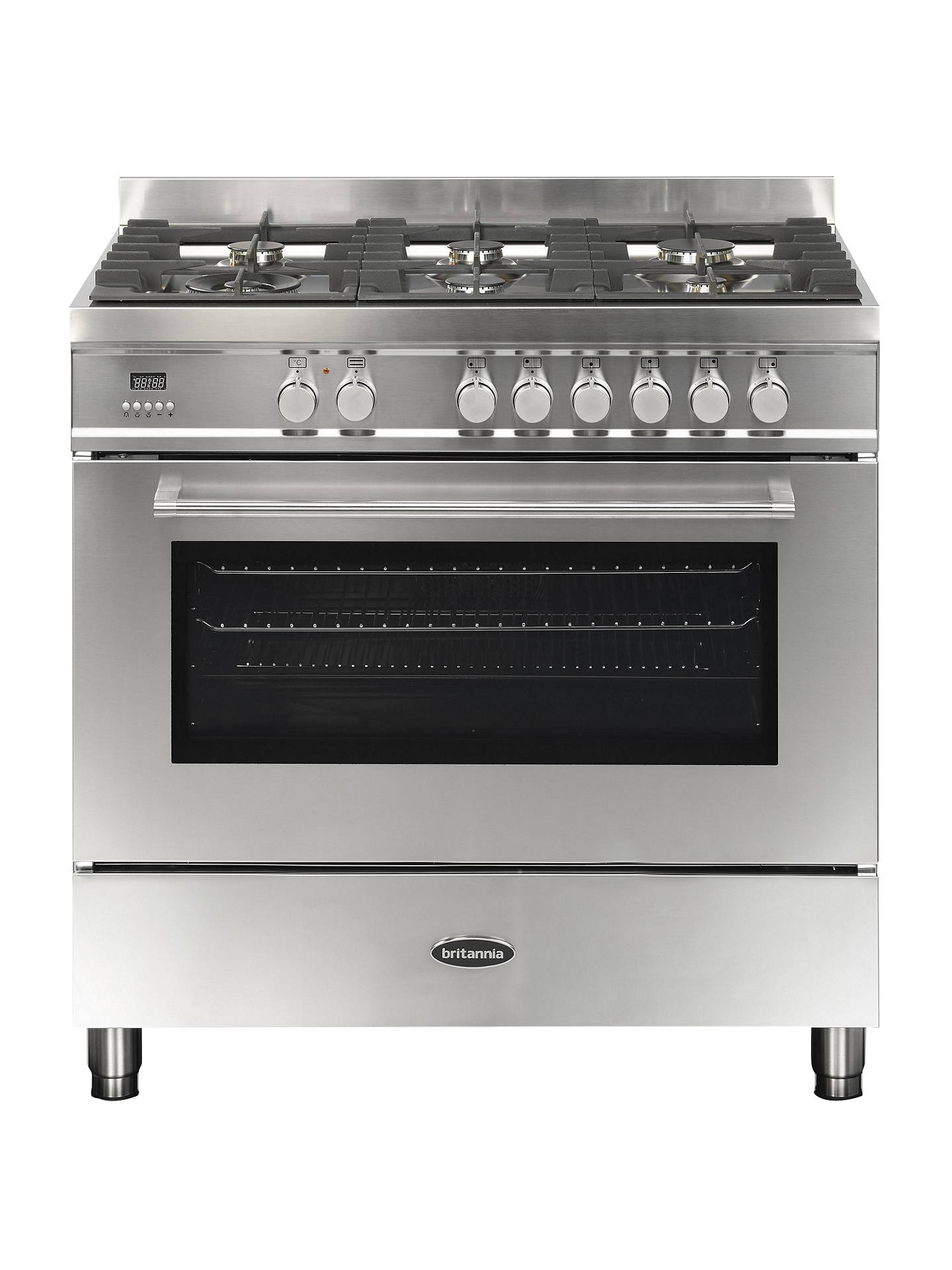 BuyBritannia RC-9SG-QL-S Q-Line Dual Fuel Range Cooker, Stainless Steel Online at johnlewis.com