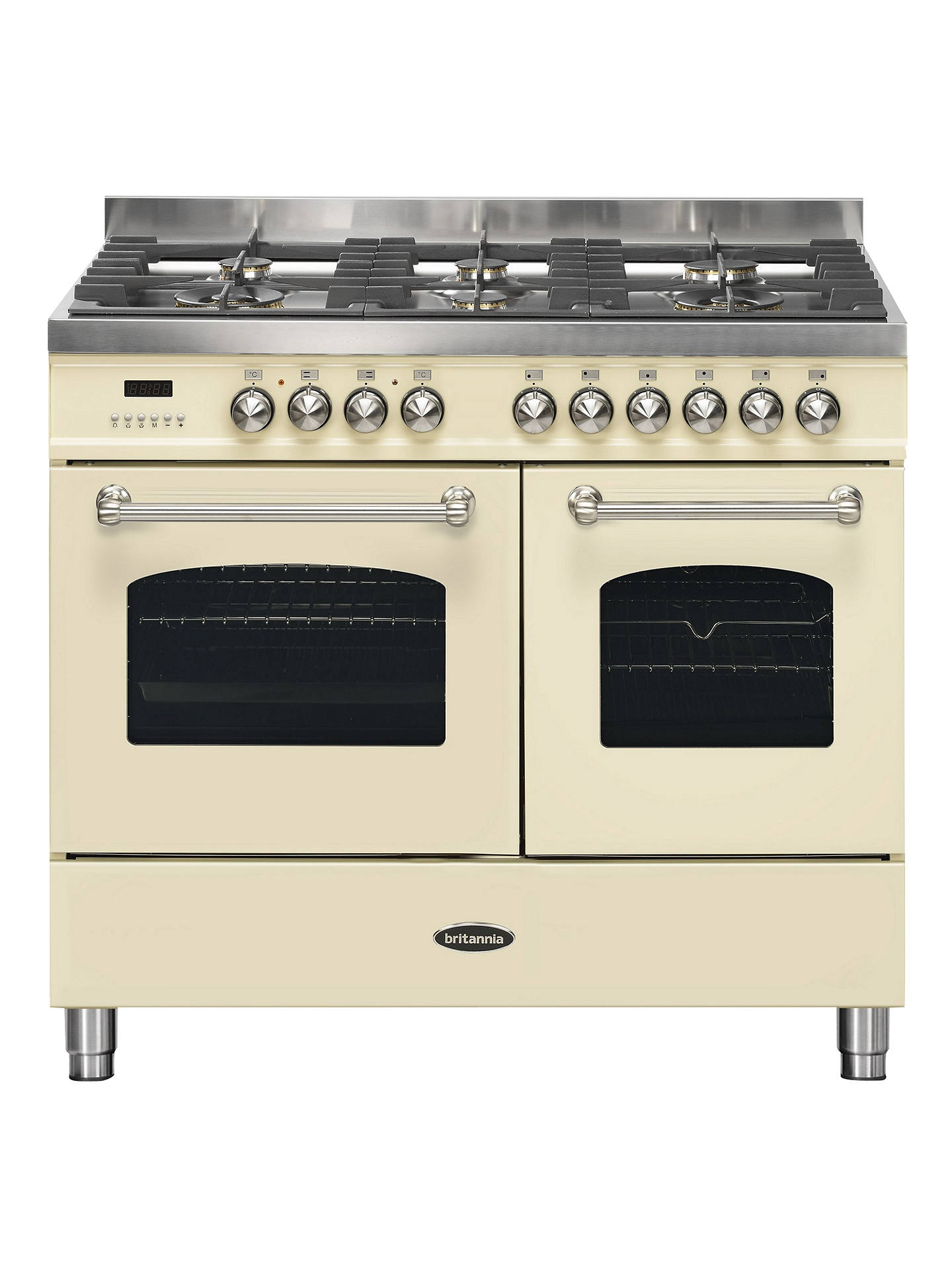 BuyBritannia RC-10TG-FL-CR Fleet Dual Fuel Range Cooker, Cream Online at johnlewis.com