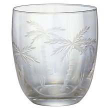 Buy John Lewis Iris Luster Palm Tree Cut Glass Tumbler Online at johnlewis.com