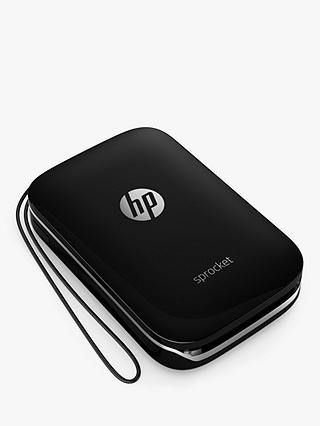 Buy HP Sprocket Portable Photo Printer, Black Online at johnlewis.com