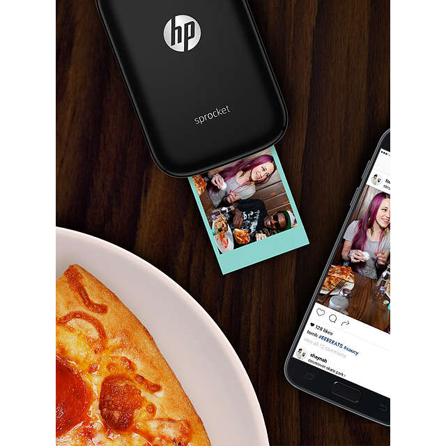 BuyHP Sprocket Portable Photo Printer, Black Online at johnlewis.com