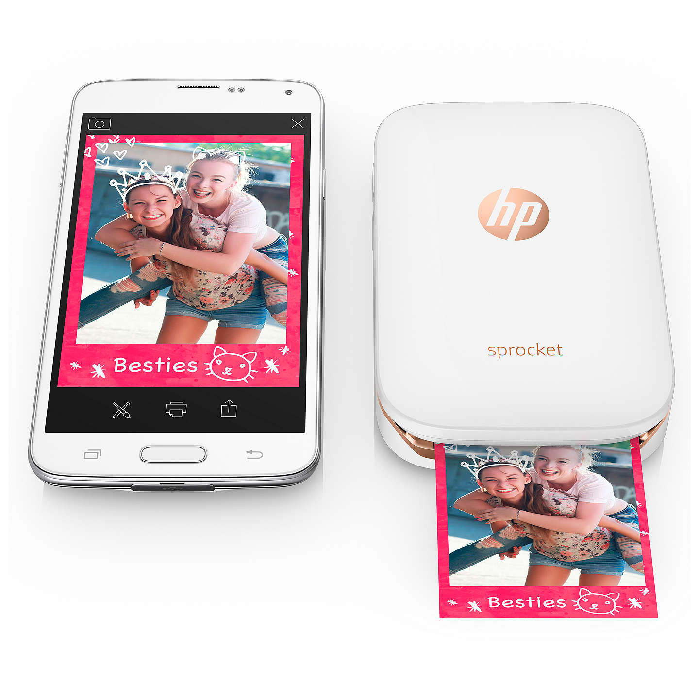hp sprocket portable photo printer at john lewis. Black Bedroom Furniture Sets. Home Design Ideas