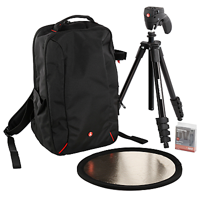 Manfrotto DSLR Accessories Starter Kit for Nikon Cameras with Backpack, Tripod, Reflector & UV Filter