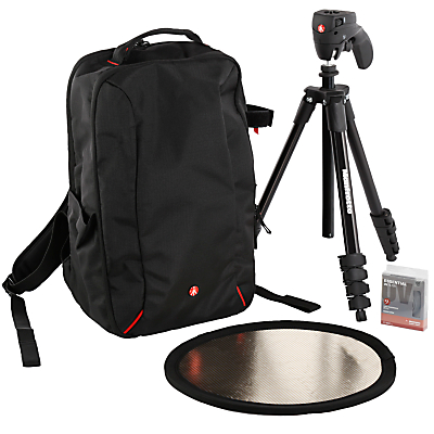 Manfrotto DSLR Accessories Starter Kit for Canon Cameras with Backpack, Tripod, Reflector & UV Filter