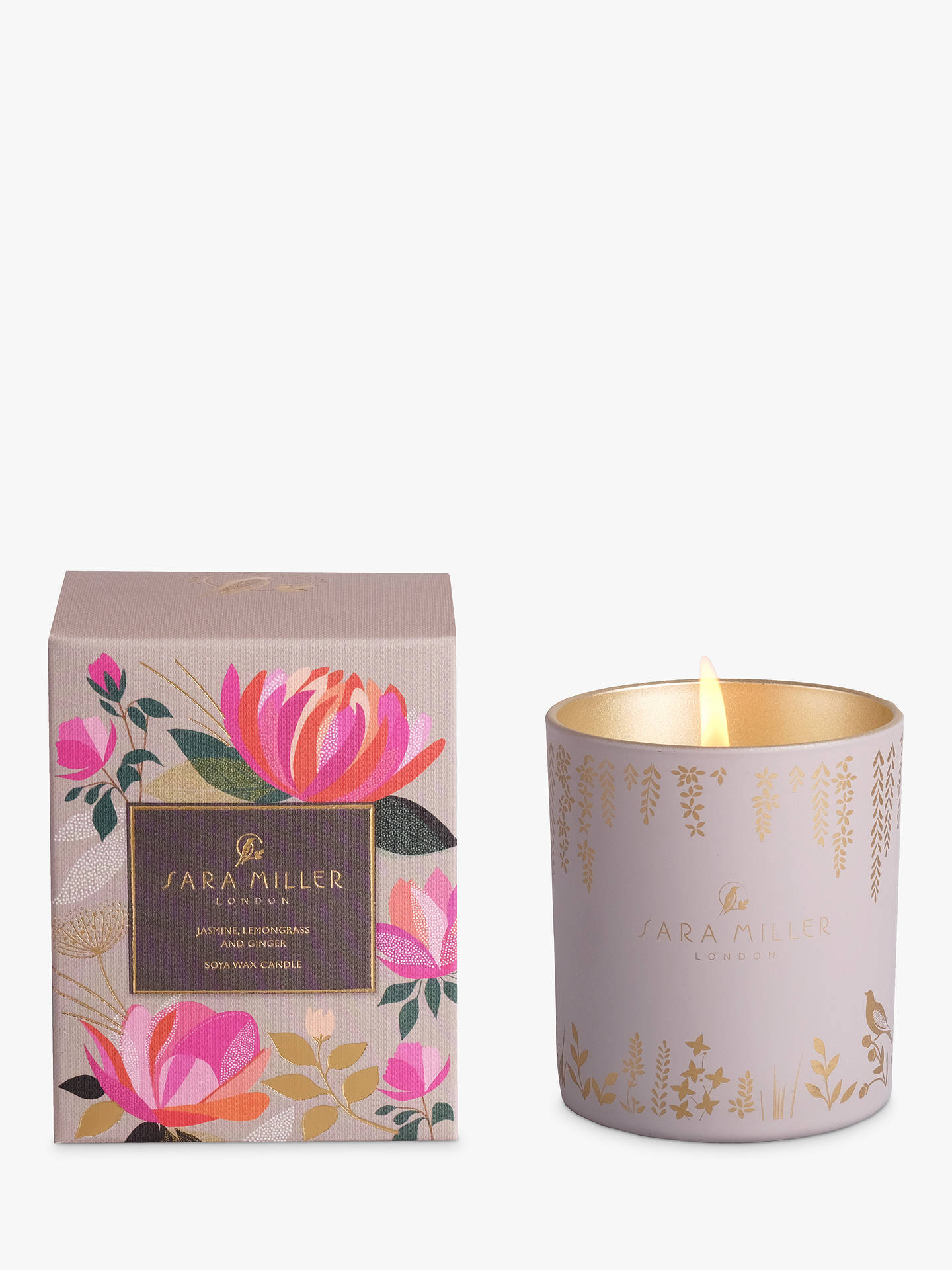BuySara Miller Jasmine, Lemongrass and Ginger Scented Candle Online at johnlewis.com