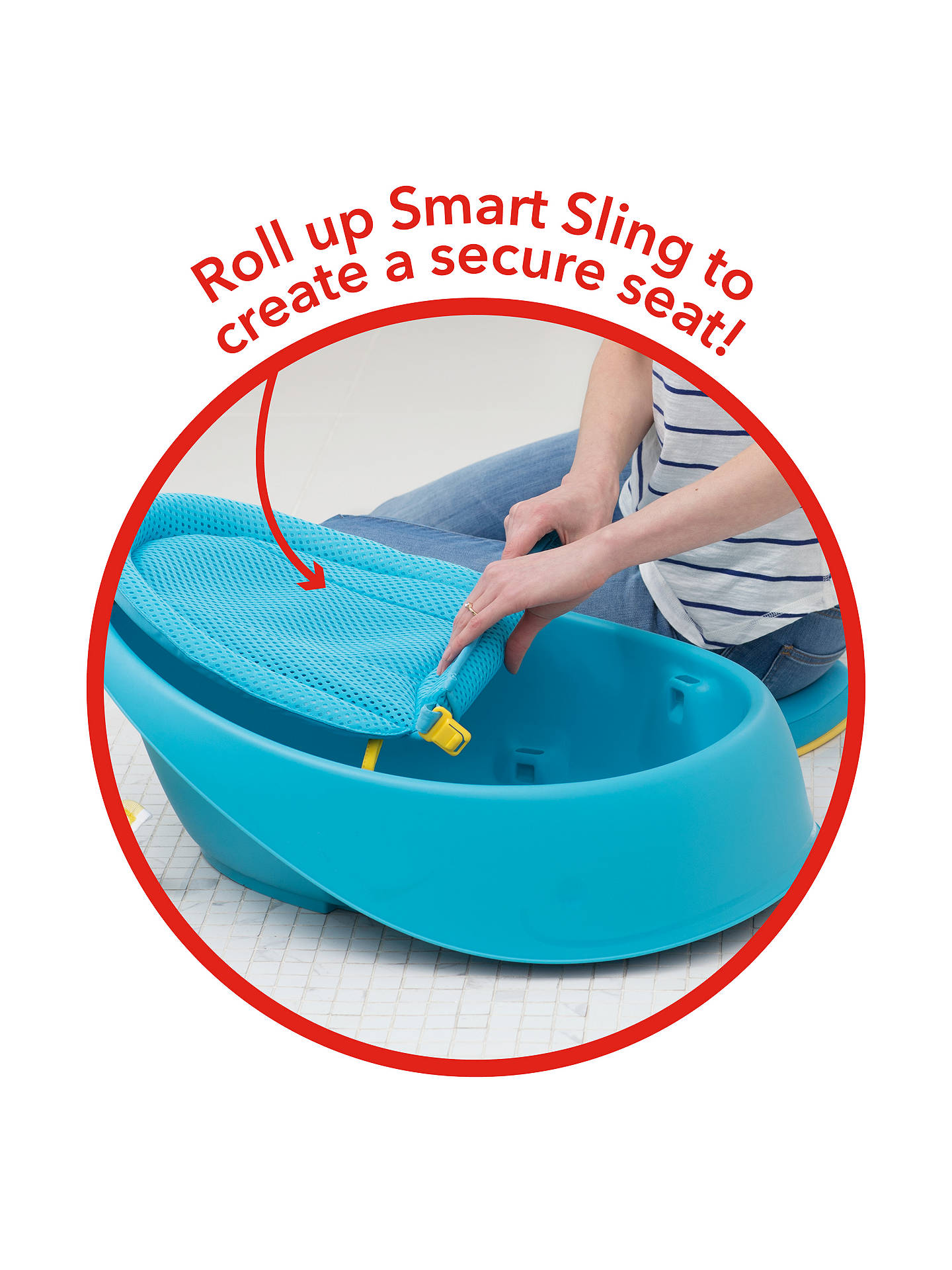 BuySkip Hop Moby 3 Stage Baby Bath Tub, Blue Online at johnlewis.com
