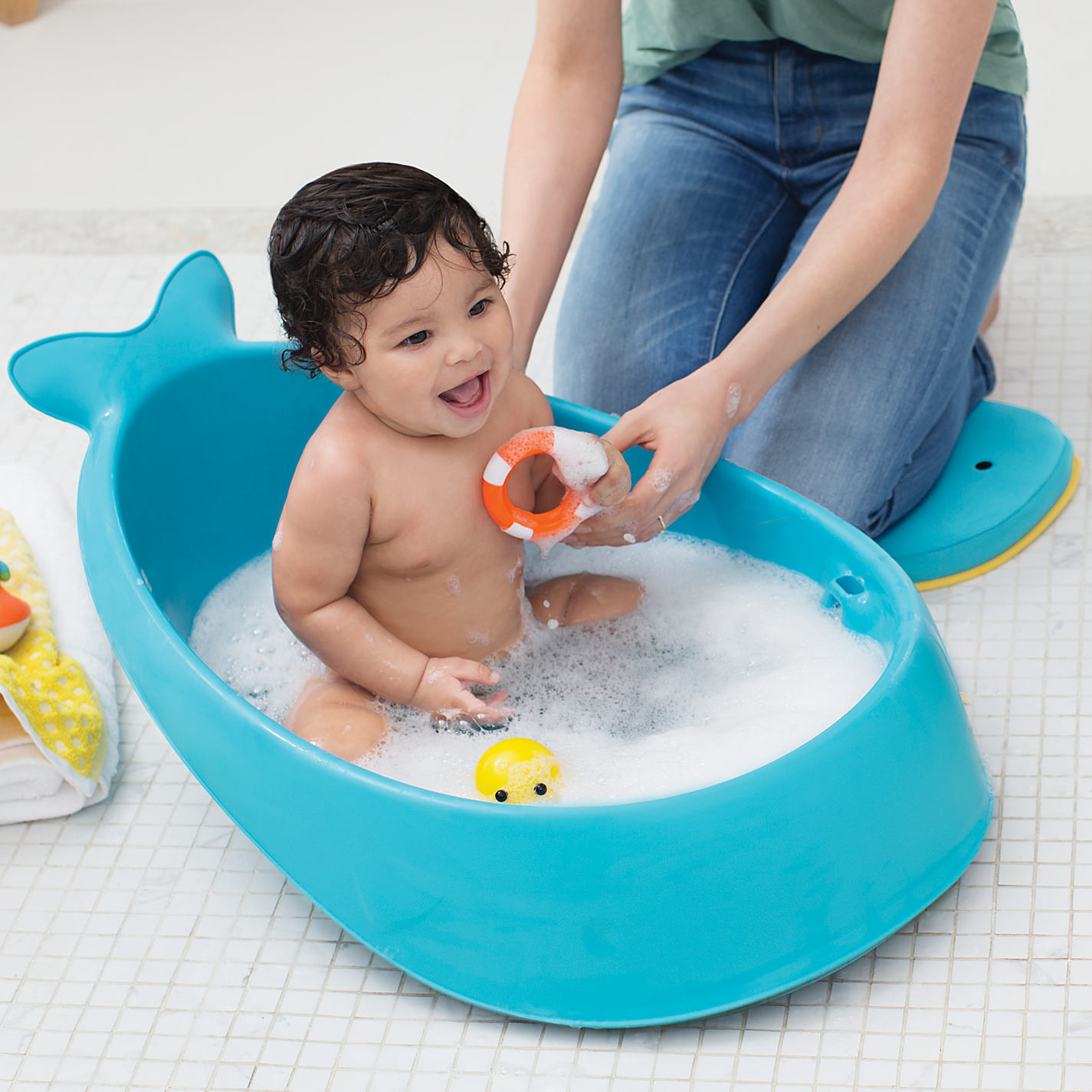 buy skip hop moby 3 stage baby bath tub | john lewis