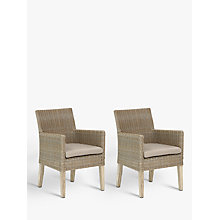 Buy KETTLER Cora Outdoor Dining Armchair, FSC-Certified (Acacia), Set of 2, Whitewash Online at johnlewis.com