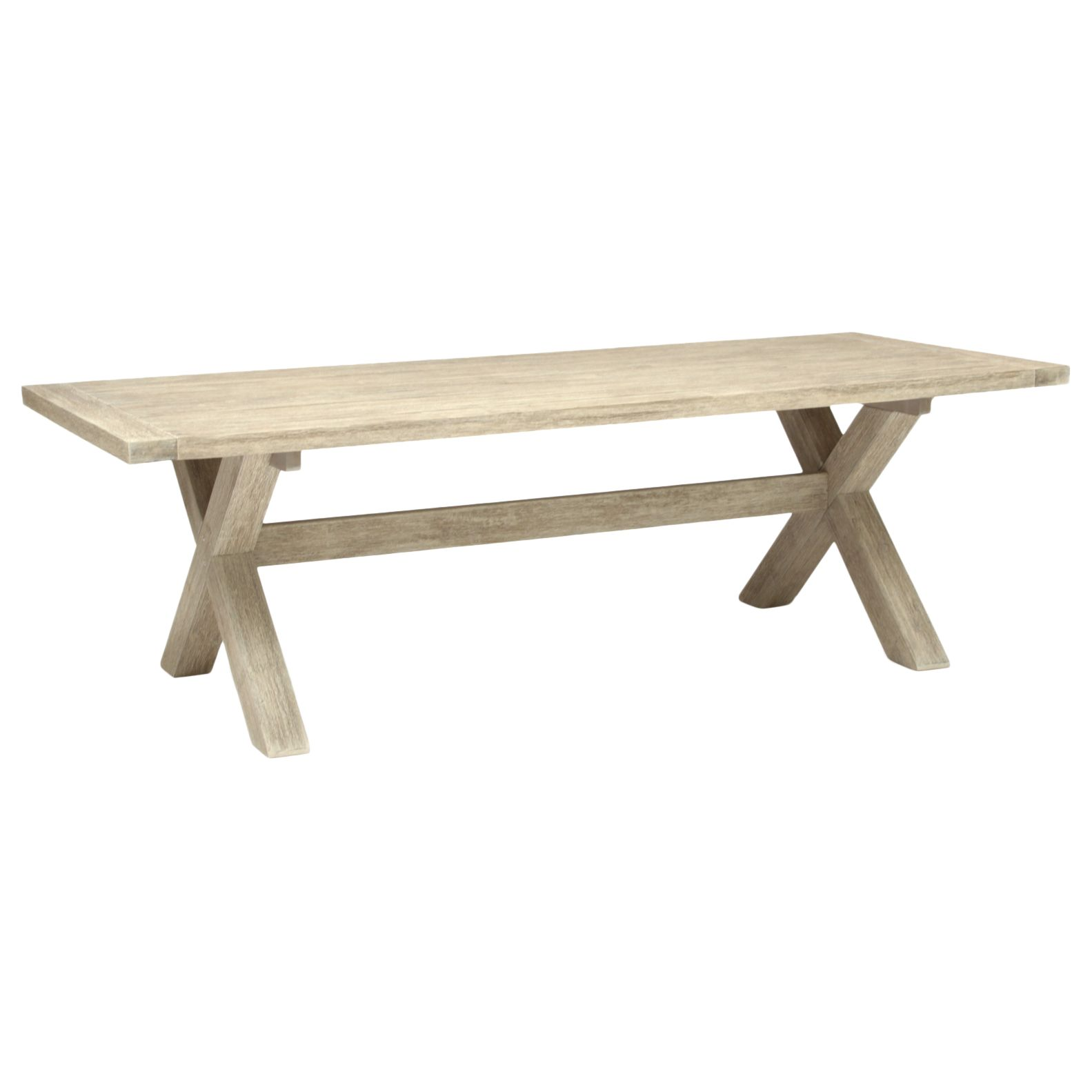 Kettler KETTLER Cora 8 Seater Rectangle Garden Table, FSC-Certified (Acacia), Whitewash