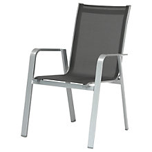 Buy KETTLER Milano Outdoor Dining Chair, Graphite Online at johnlewis.com