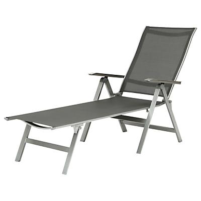 KETTLER Milano Folding Sunlounger, Graphite
