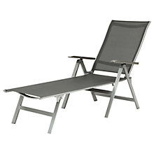 Buy KETTLER Milano Folding Sunlounger, Graphite Online at johnlewis.com