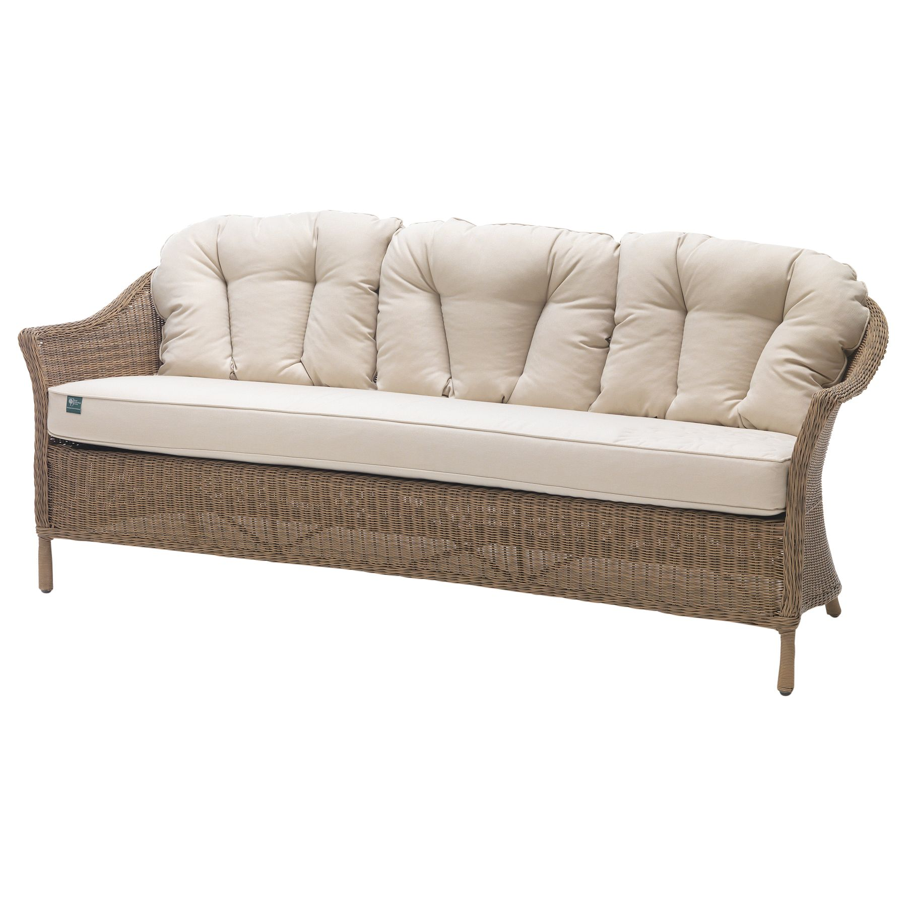 Kettler KETTLER RHS Harlow Carr 3 Seater Outdoor Sofa, Natural