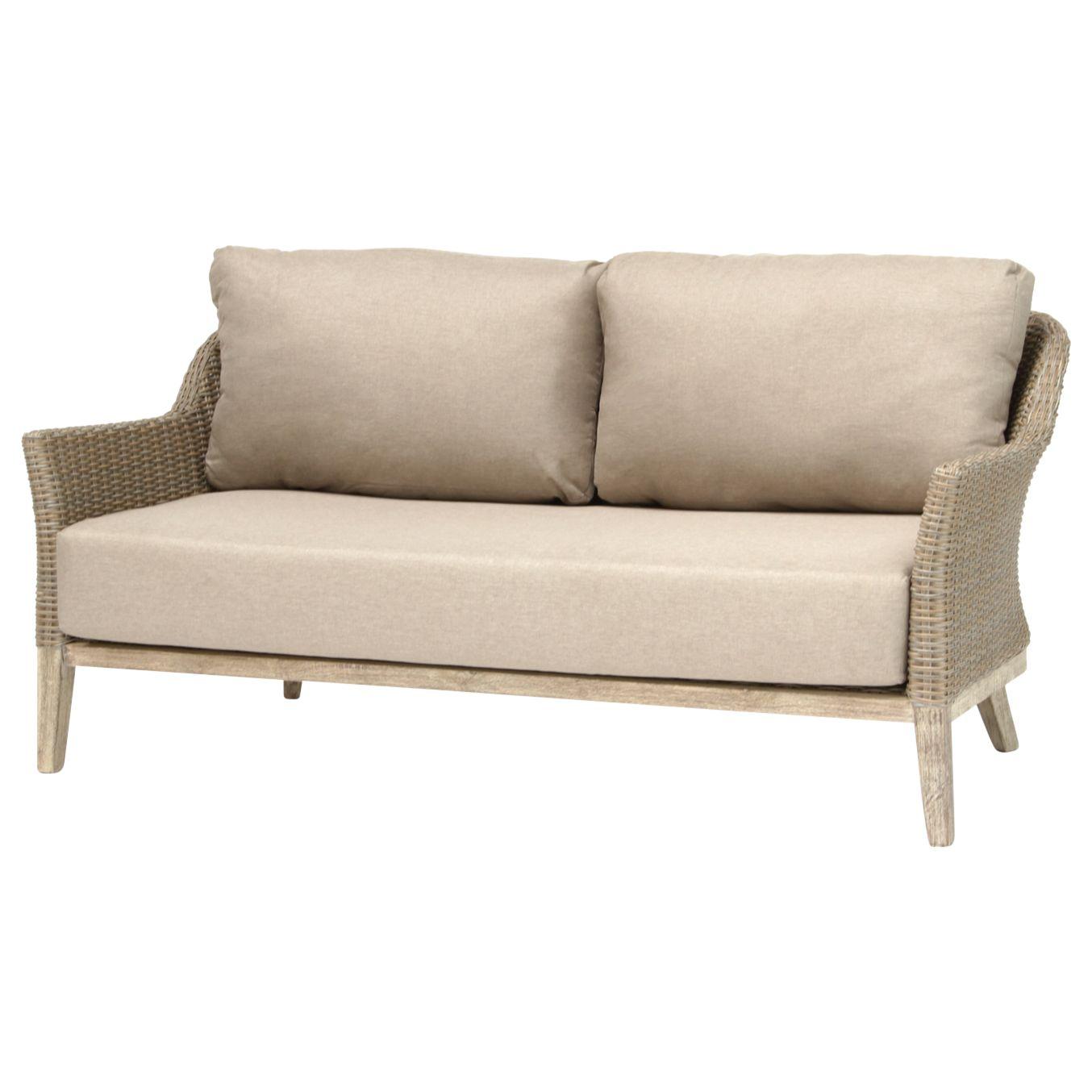 Kettler KETTLER Cora Lounging 3 Seater Sofa, FSC-Certified (Acacia), Smoke White