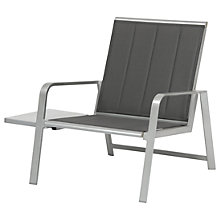 Buy KETTLER Milano Lounge Armchair With Side Table, Graphite Online at johnlewis.com