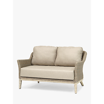 KETTLER Cora Lounging 2 Seater Sofa, FSC-Certified (Acacia), Whitewash