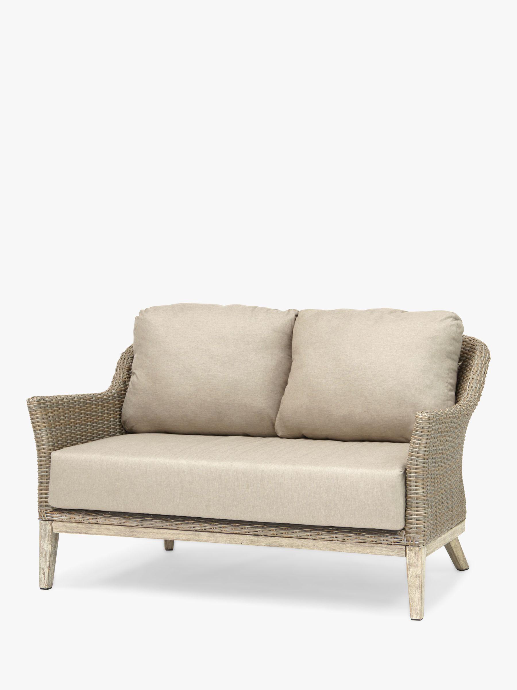 Kettler KETTLER Cora Lounging 2 Seater Sofa, FSC-Certified (Acacia), Smoke White