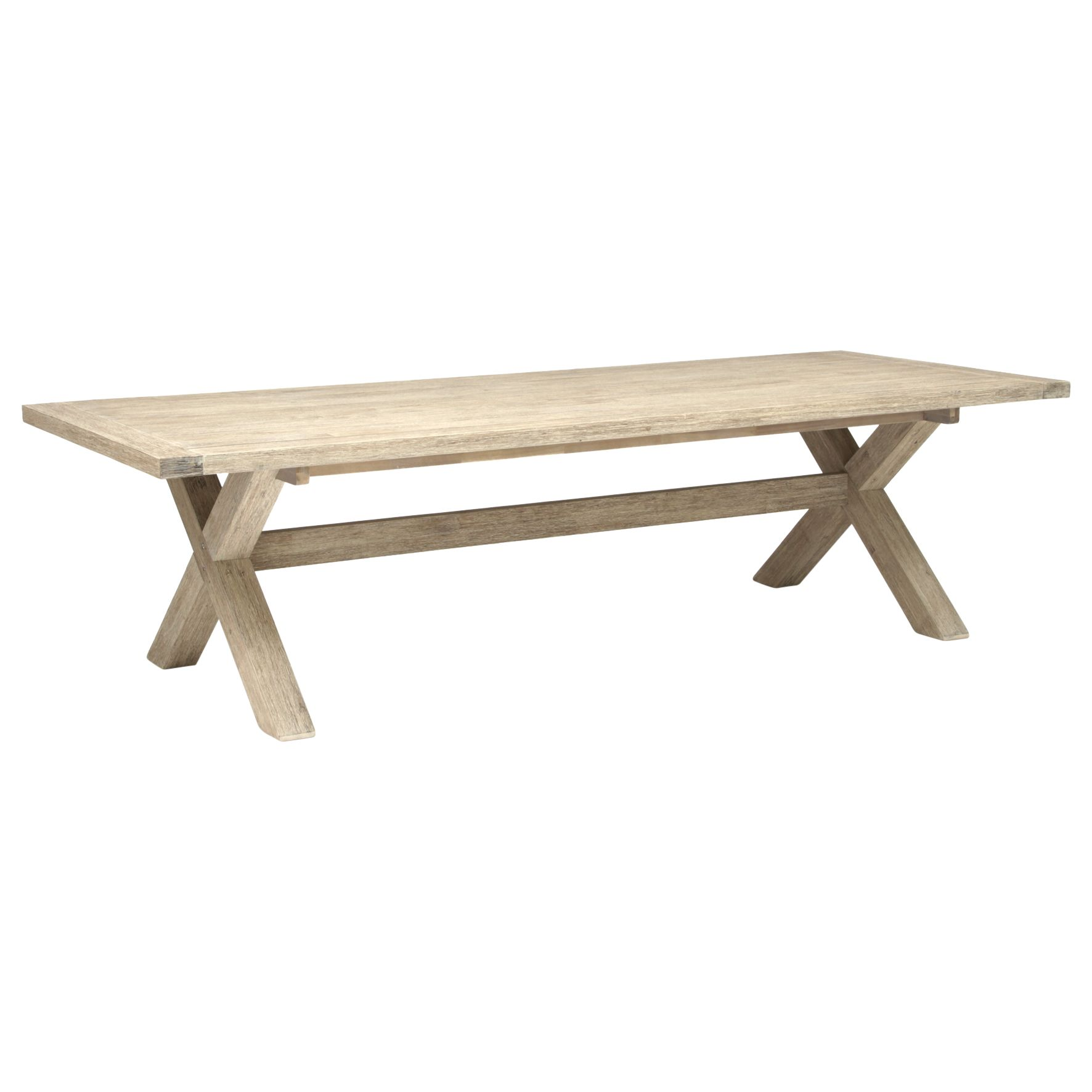 Kettler KETTLER Cora 10 Seater Rectangle Garden Table, FSC-Certified (Acacia), Smoke White