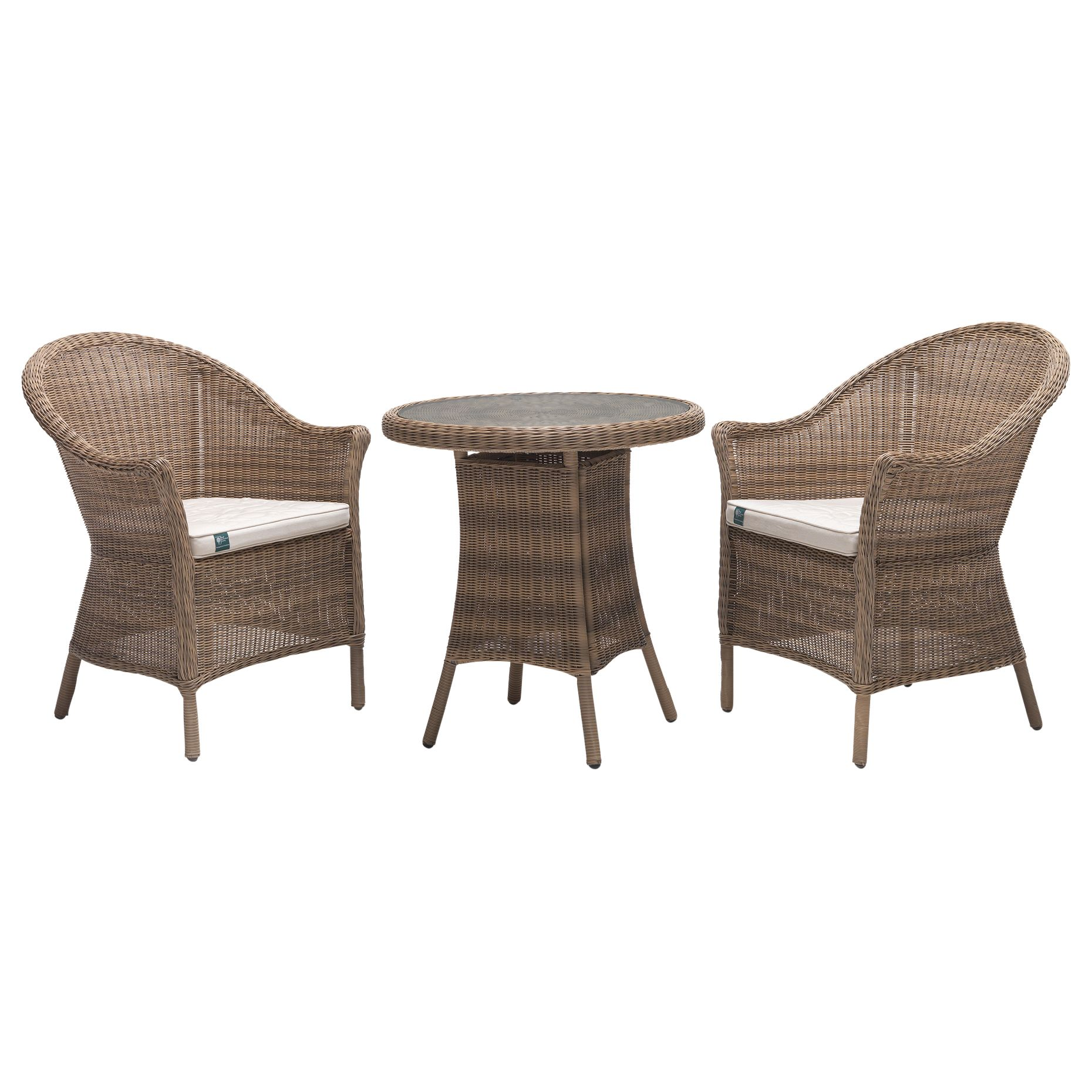 Kettler KETTLER RHS Harlow Carr Garden Bistro Table and Chairs Set, Natural