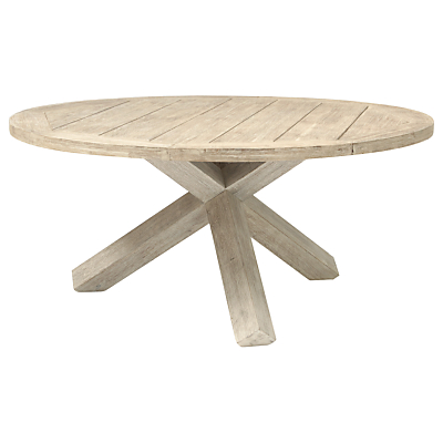 Image of KETTLER Cora 6 Seater Round Garden Table, FSC-Certified (Acacia), Whitewash
