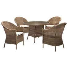 Buy KETTLER RHS Harlow 4 Seater Table & Chairs Set, Natural Online at johnlewis.com