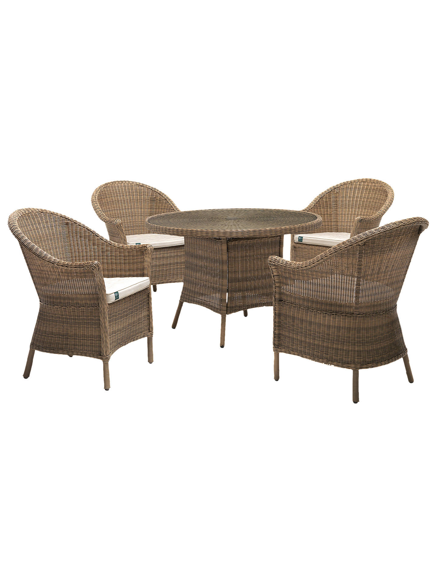 4ac0f002d7e8 Buy KETTLER RHS Harlow Carr 4 Seater Garden Table and Chairs Set, Natural  Online at ...