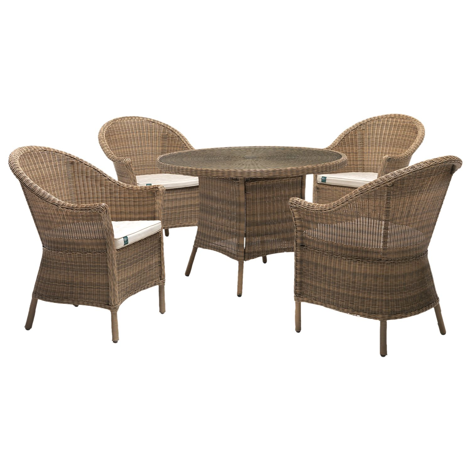 Kettler KETTLER RHS Harlow Carr 4 Seater Garden Table and Chairs Set, Natural
