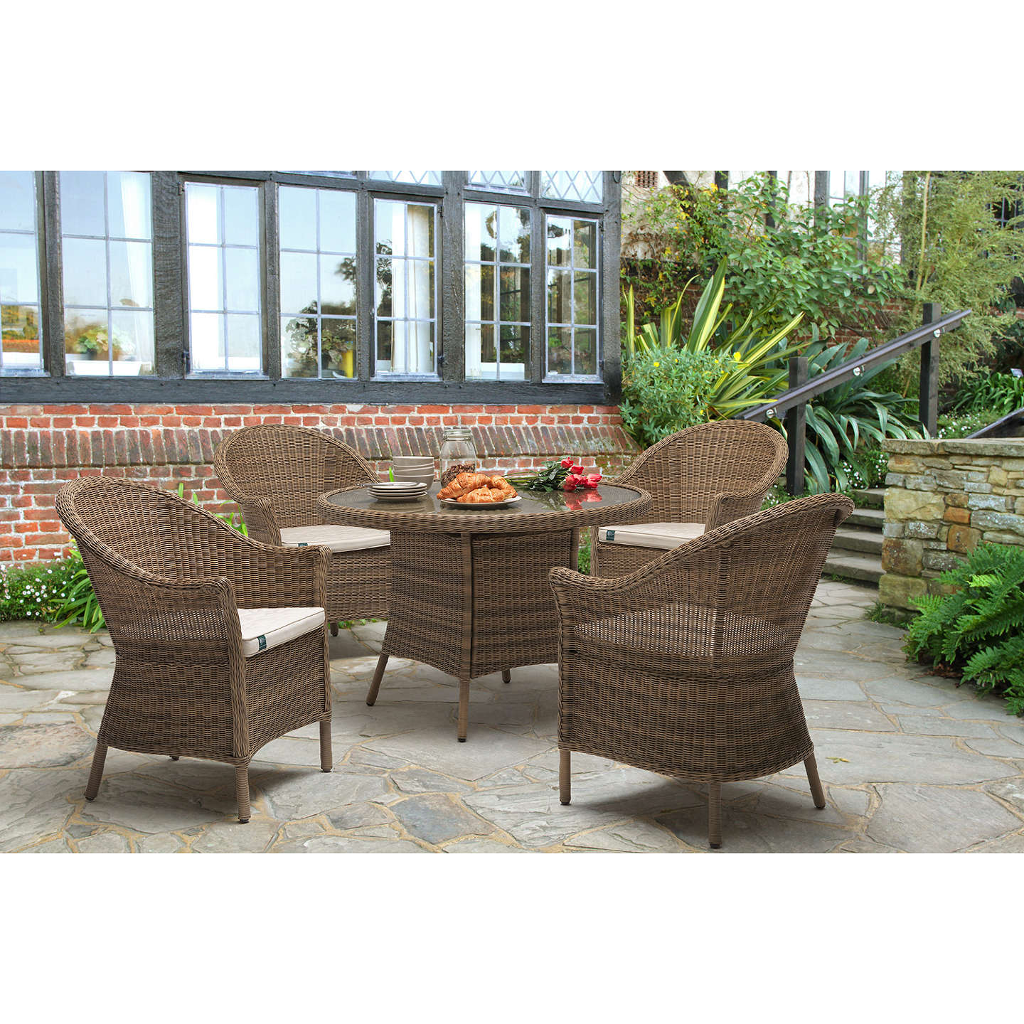 KETTLER RHS Harlow Carr 4 Seater Garden Table and Chairs Set ...