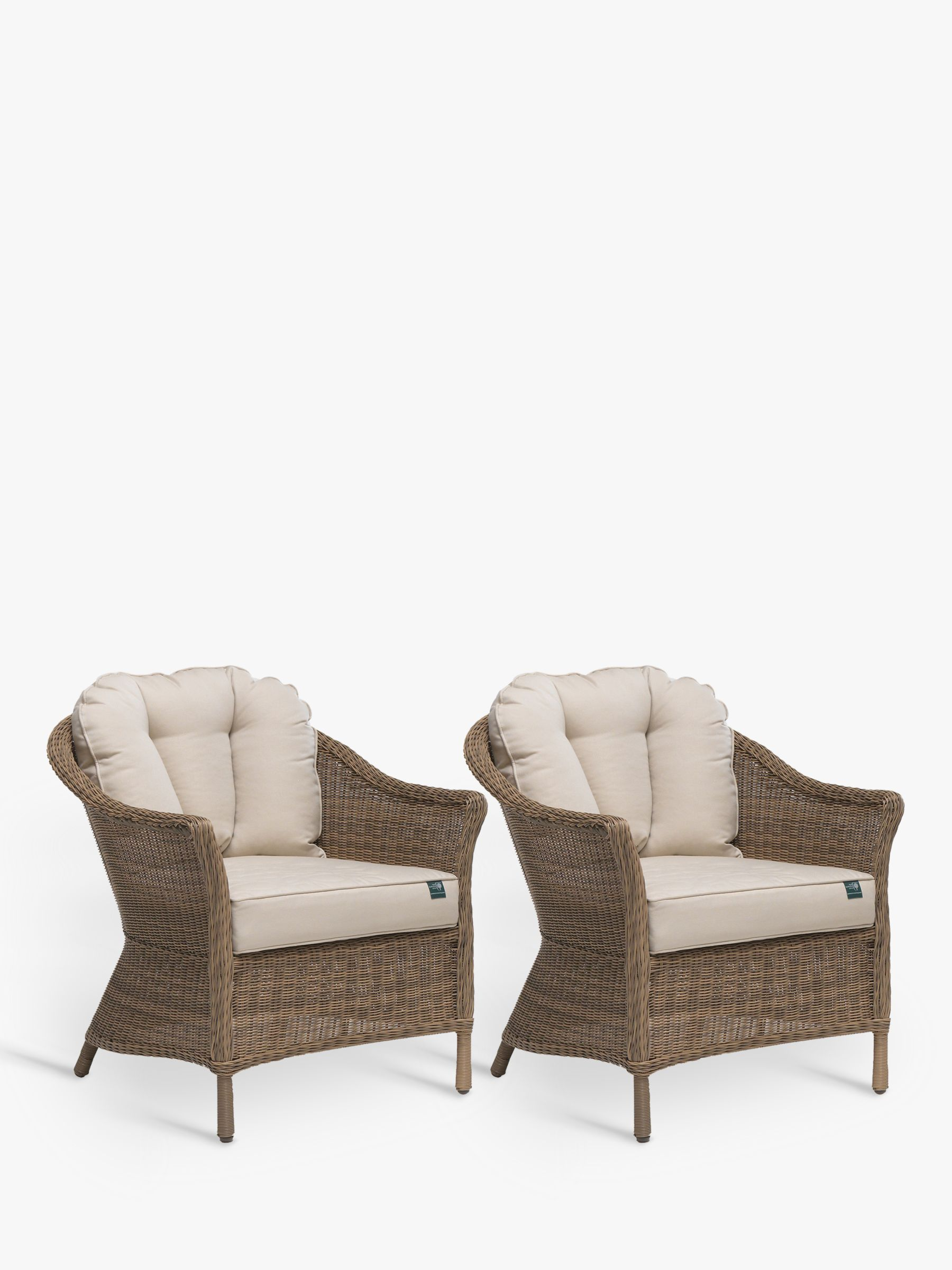Kettler KETTLER RHS Harlow Carr Garden Lounging Armchairs, Set of 2, Natural