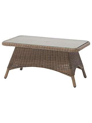 KETTLER RHS Harlow Carr Rectangular Garden Coffee Table, Natural