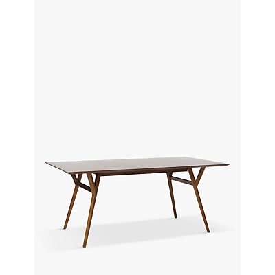 west elm Mid-Century 6-8 Seater Extending Dining Table, Walnut