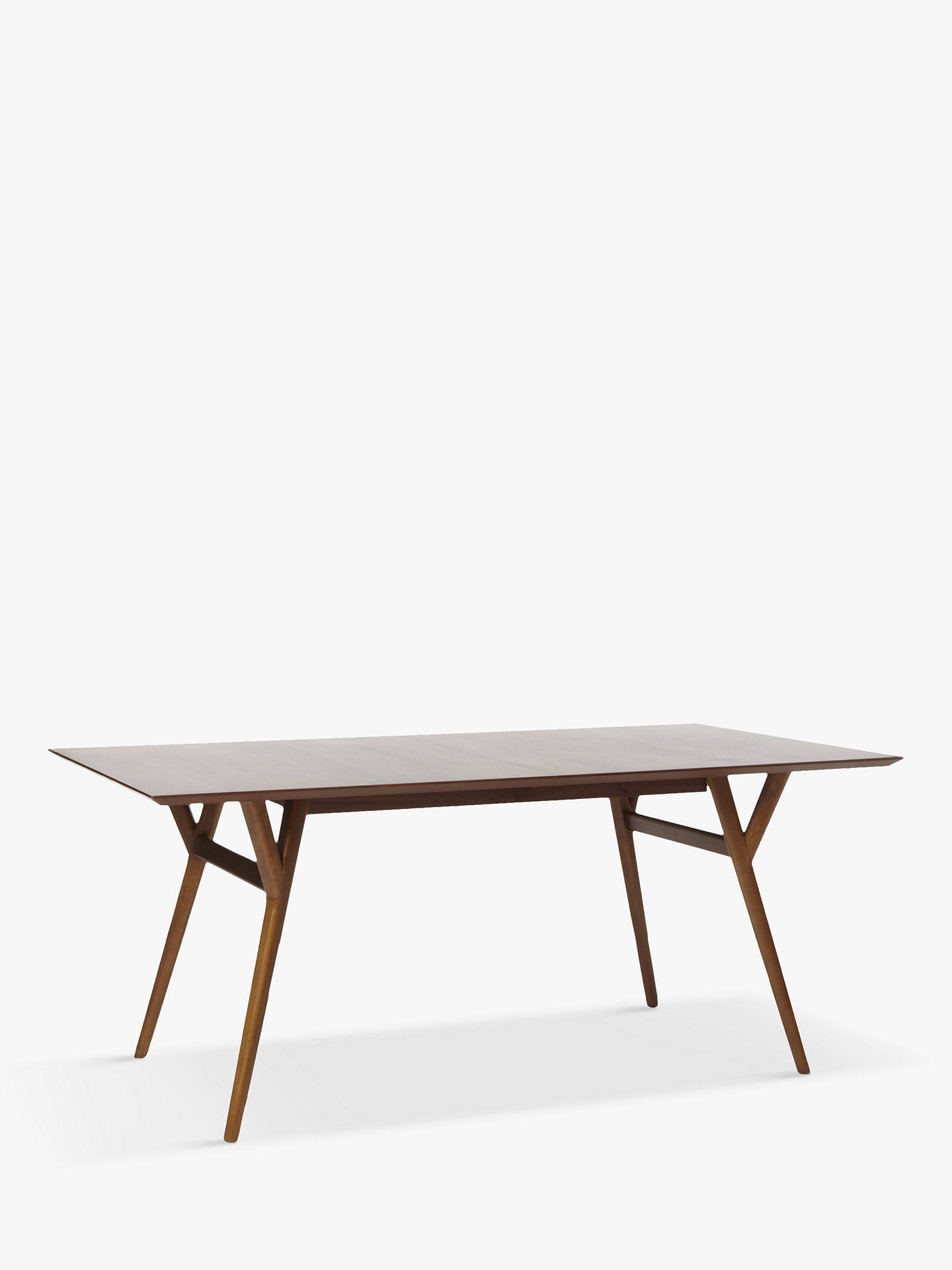 West Elm Mid Century 6 8 Seater Extending Dining Table Walnut At John Lewis Partners