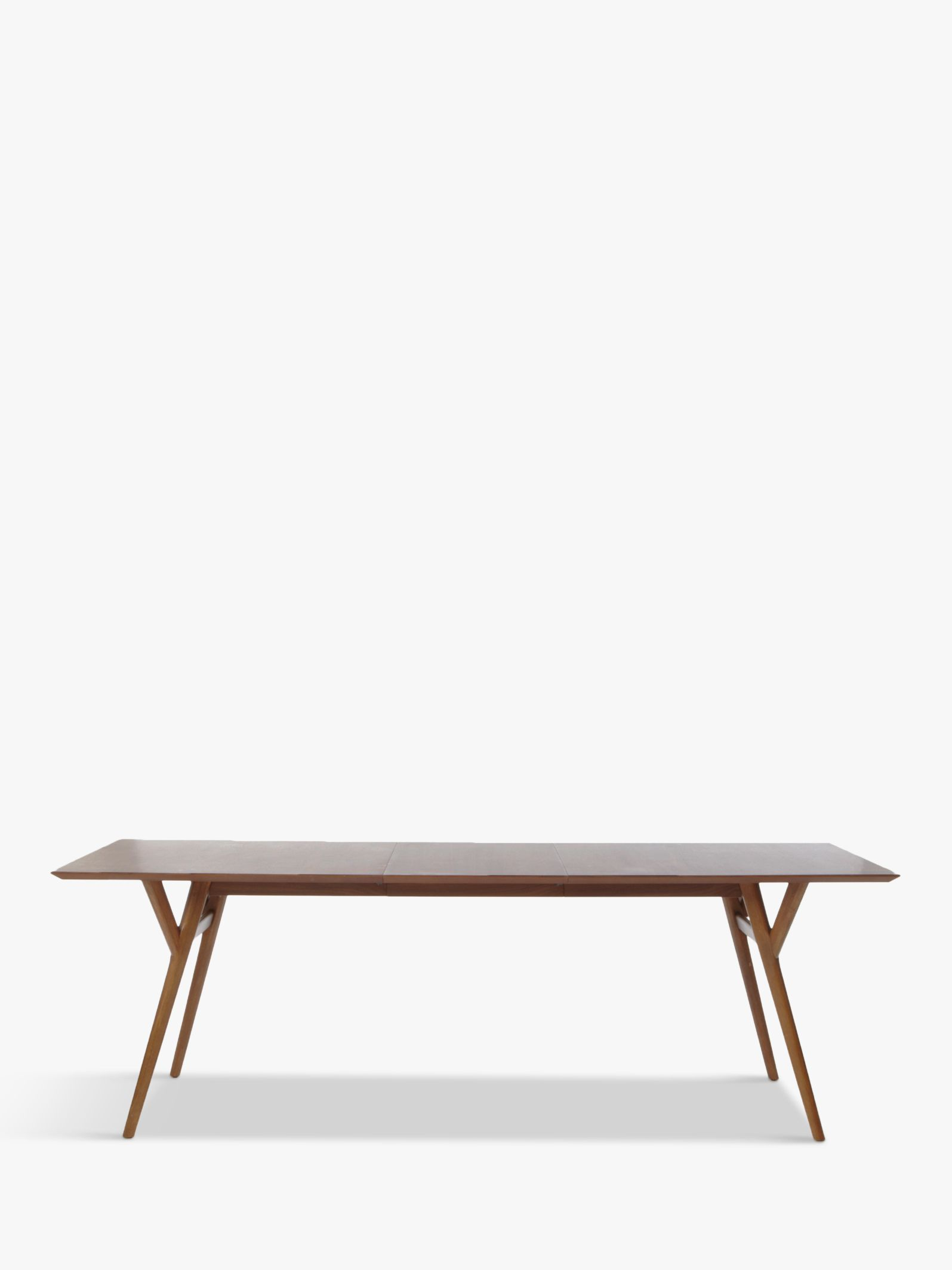 Picture of: West Elm Mid Century 8 10 Seater Extending Dining Table Walnut At John Lewis Partners