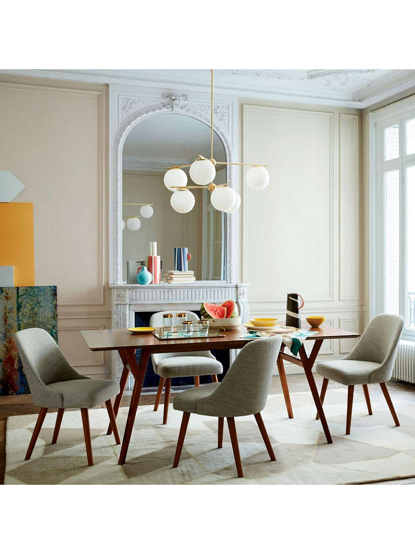 West Elm Mid Century 8 10 Seater Extending Dining Table Walnut At John Lewis Partners