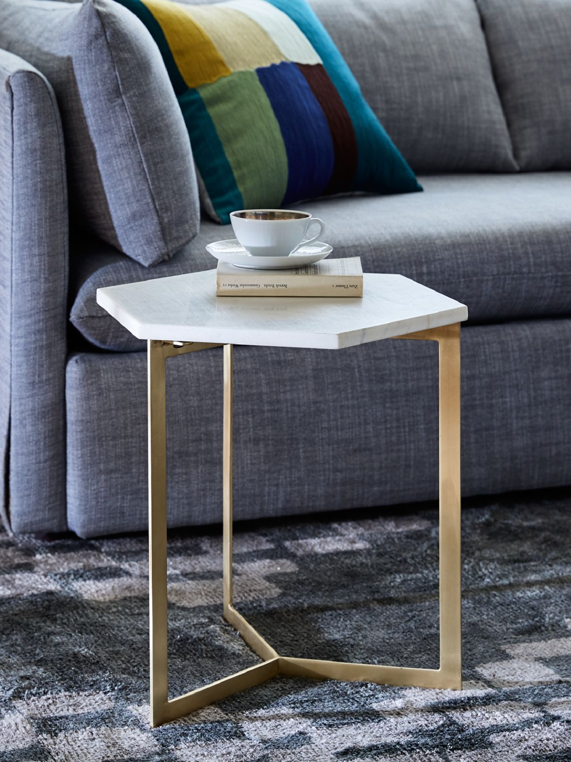 West Elm Hex Side Table At John Lewis Partners