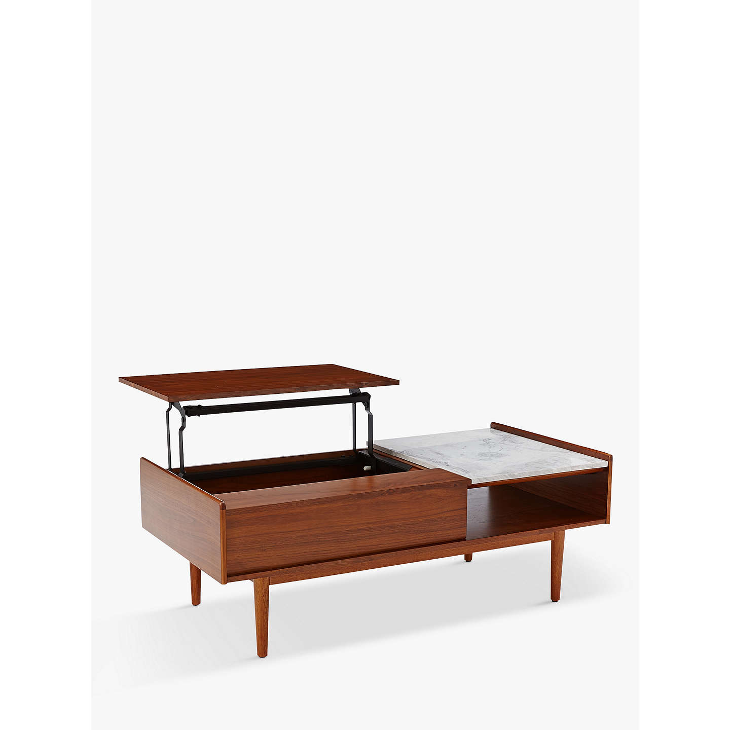 West Elm Mid-Century Pop-Up Storage Coffee Table At John Lewis