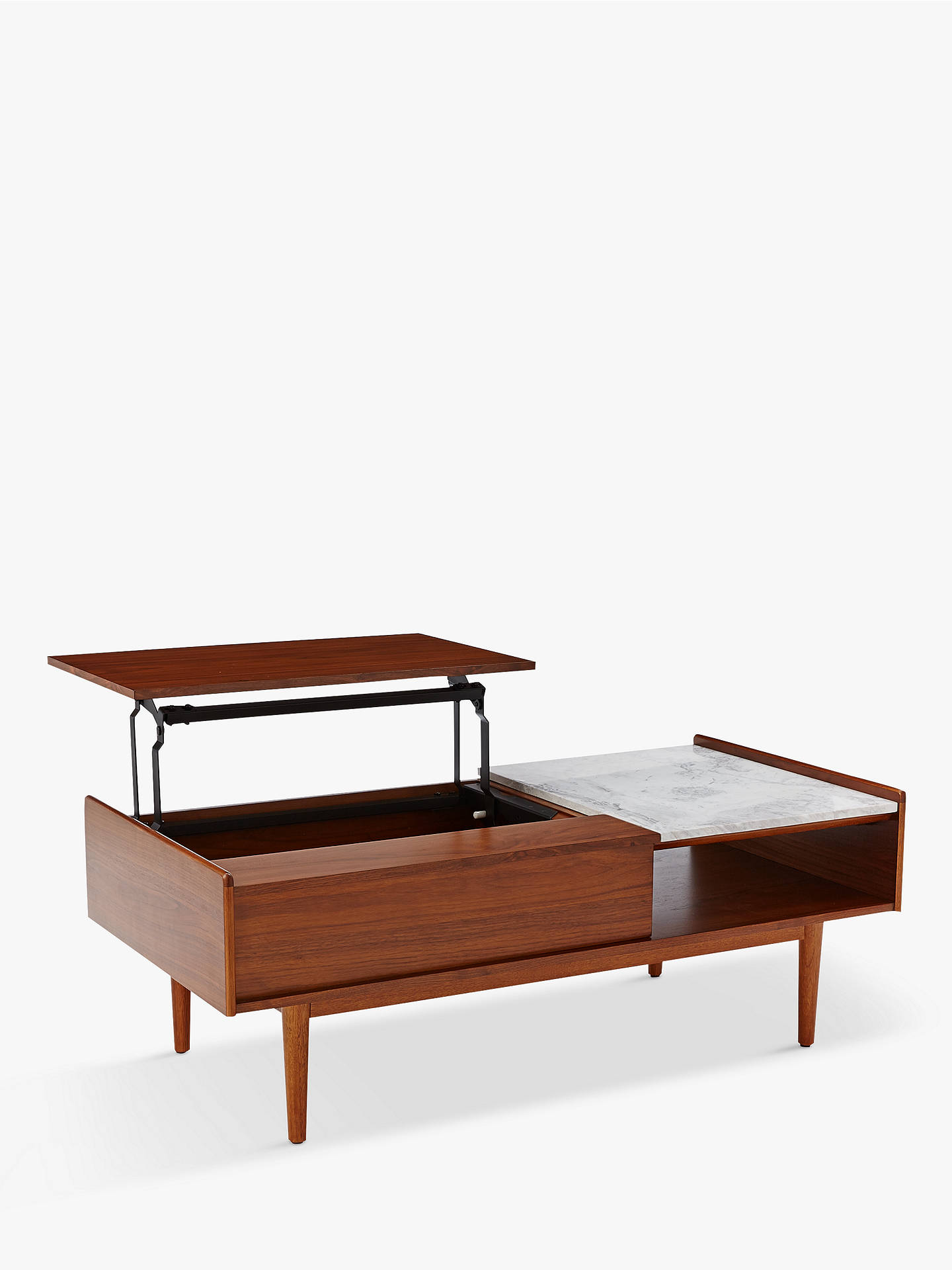 Pop Up Coffee Table.West Elm Mid Century Pop Up Storage Coffee Table