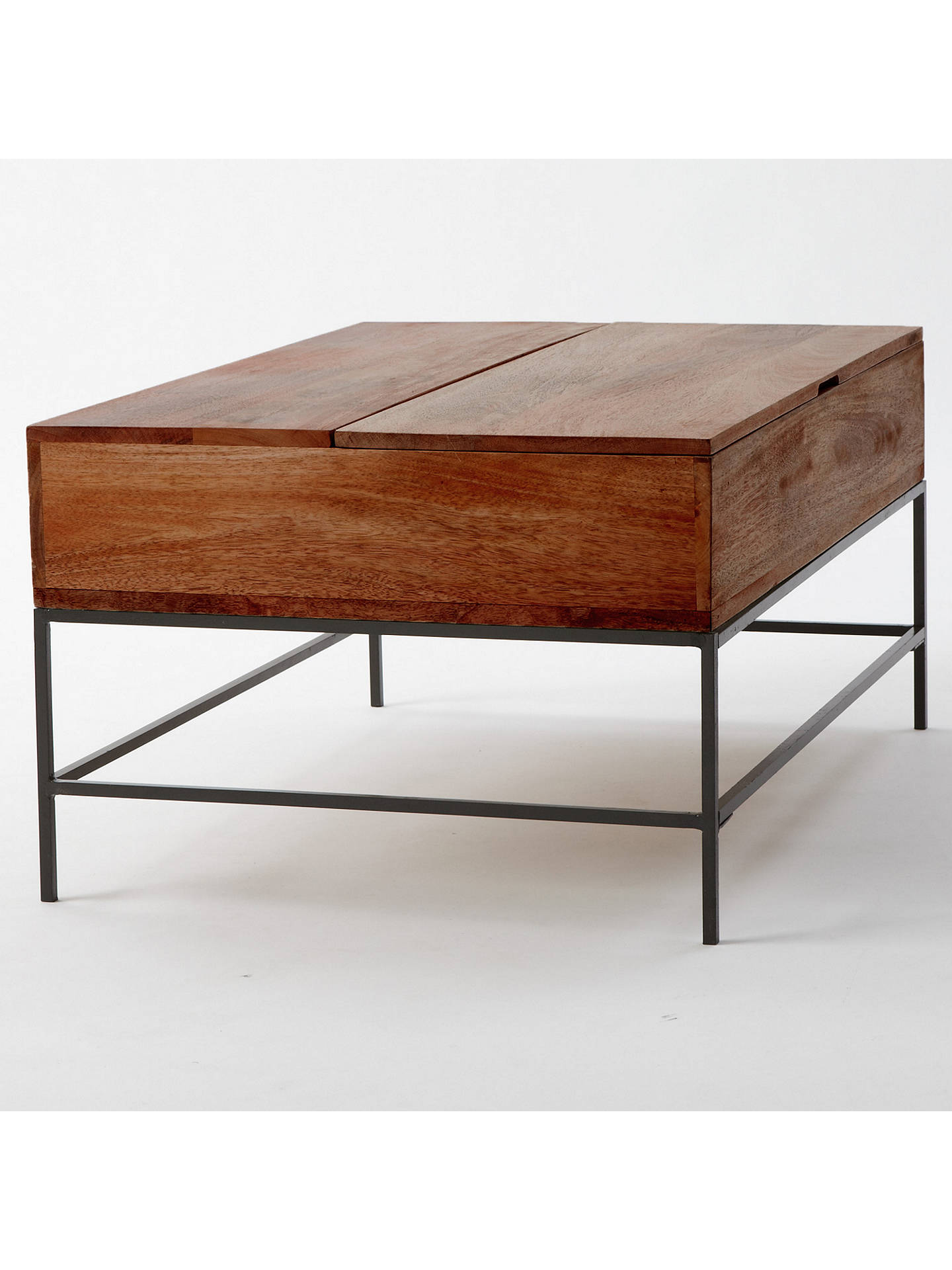 West Elm Industrial Storage Coffee Table At John Lewis Partners - West elm cafe table
