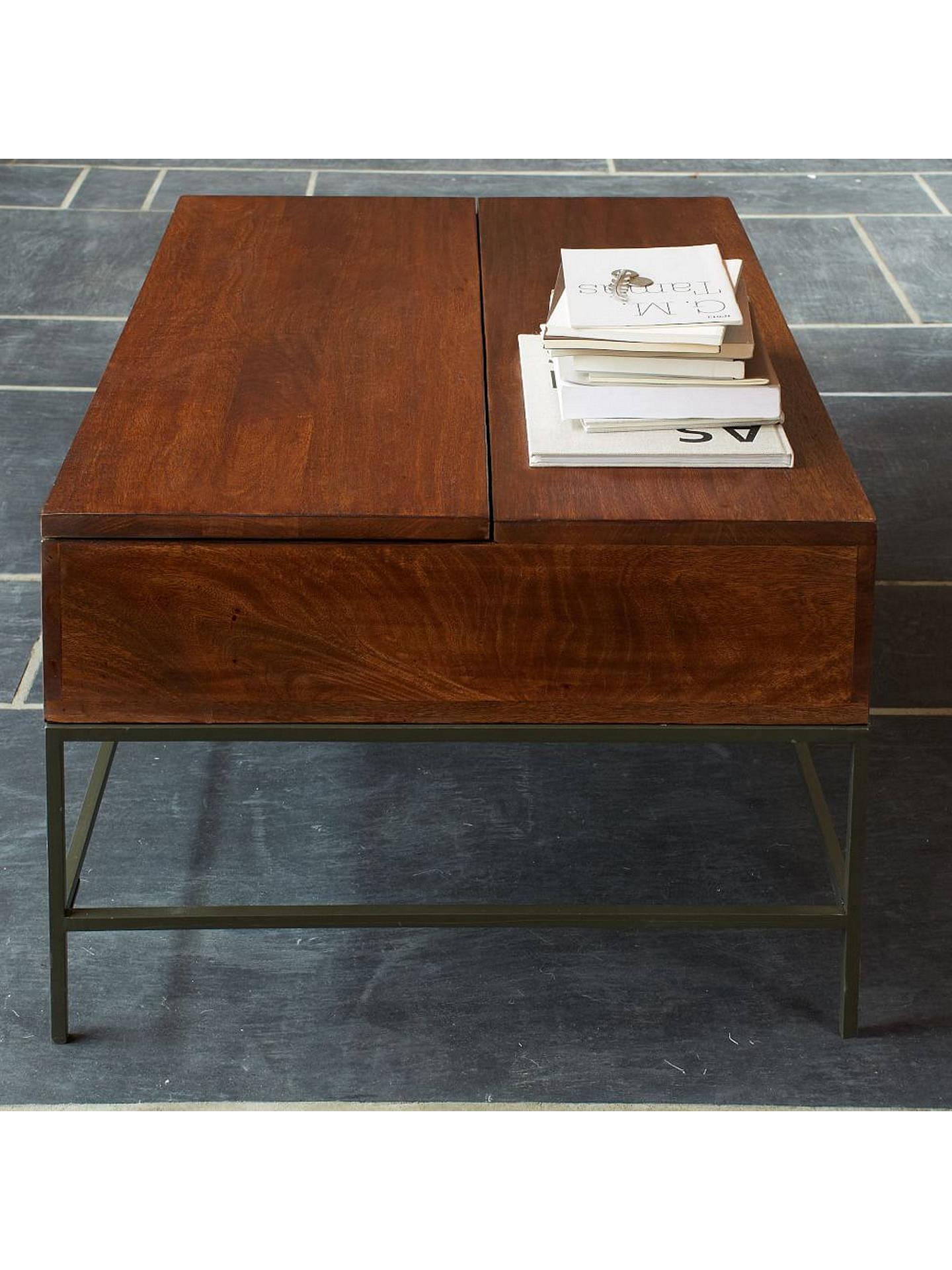 West Elm Industrial Storage Coffee Table At John Lewis Partners