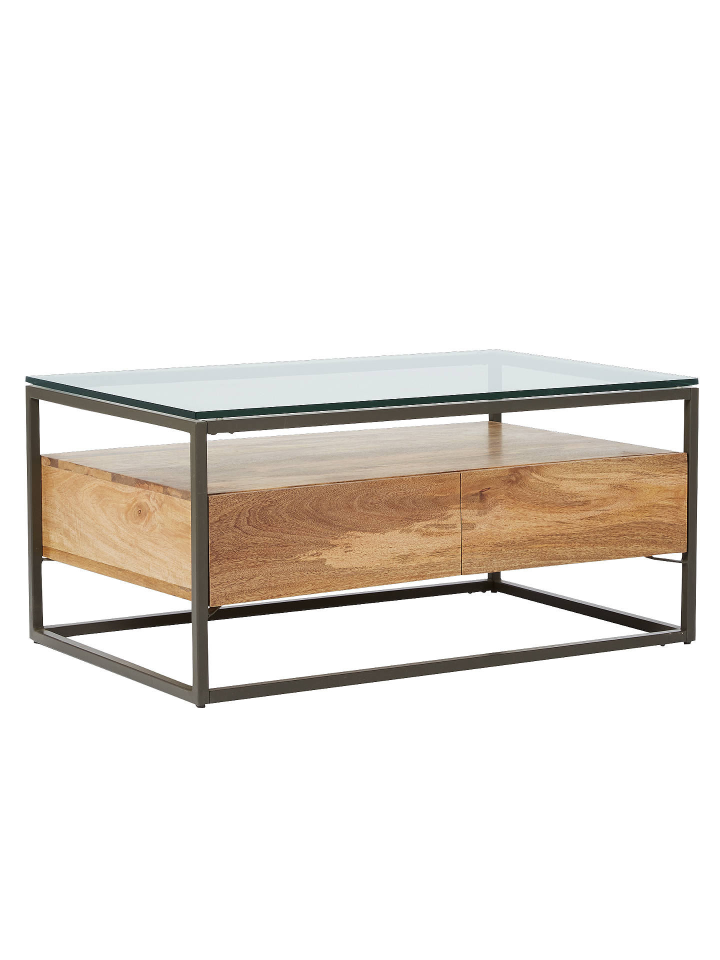west elm Industrial Storage Box Frame Coffee Table at John Lewis ...