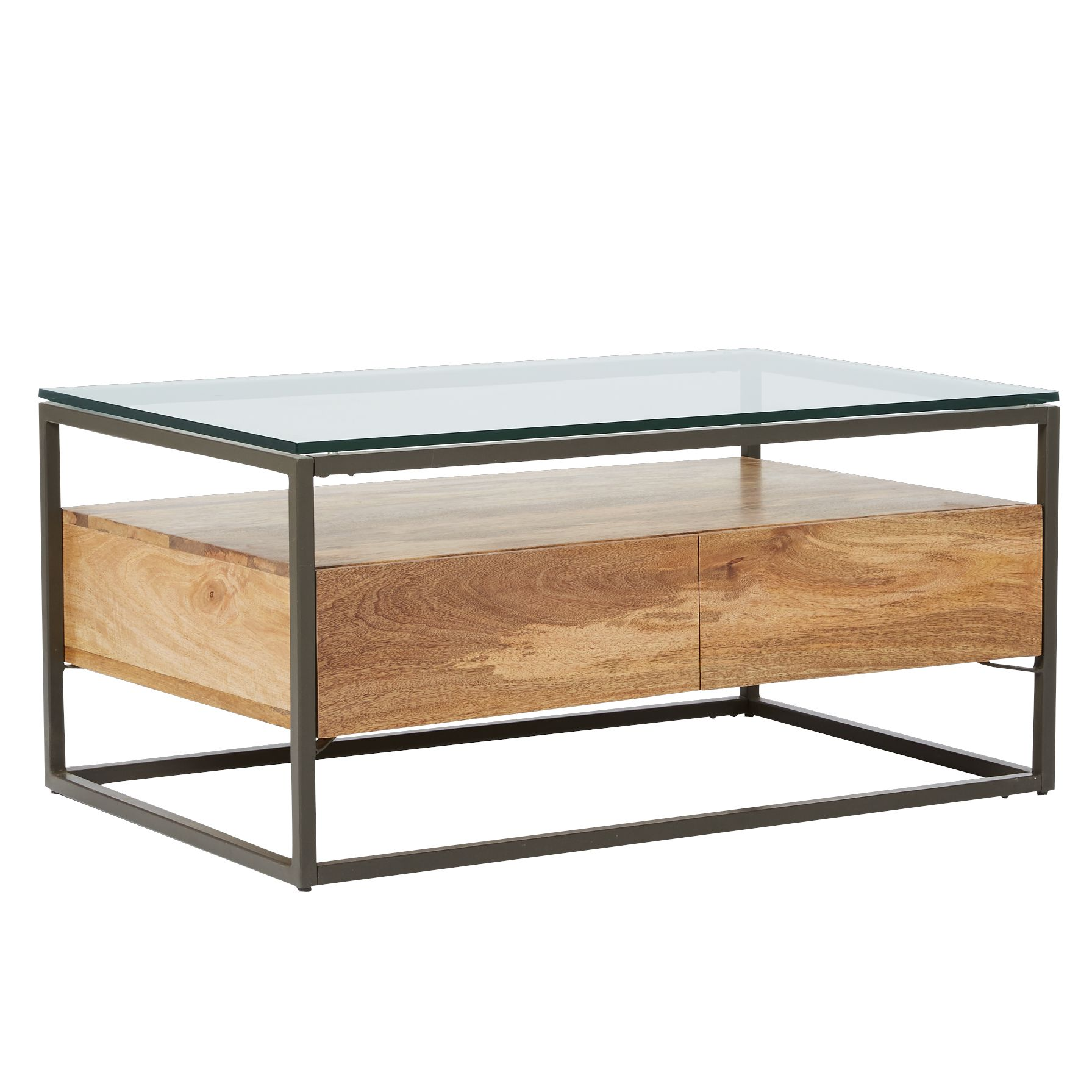 Picture of: West Elm Industrial Storage Box Frame Coffee Table At John Lewis Partners