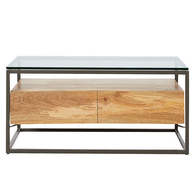West Elm Industrial Storage Box Frame Coffee Table At John