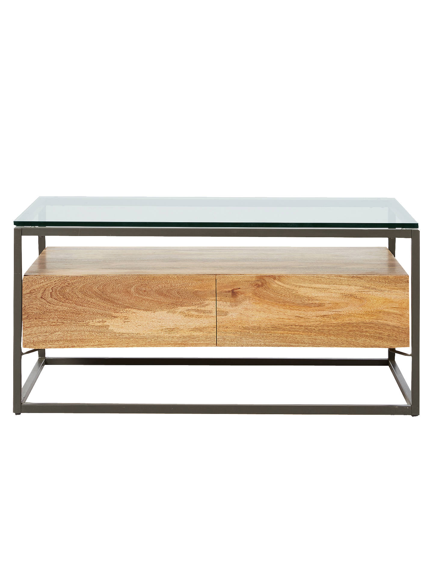 West Elm Industrial Storage Box Frame Coffee Table At John Lewis