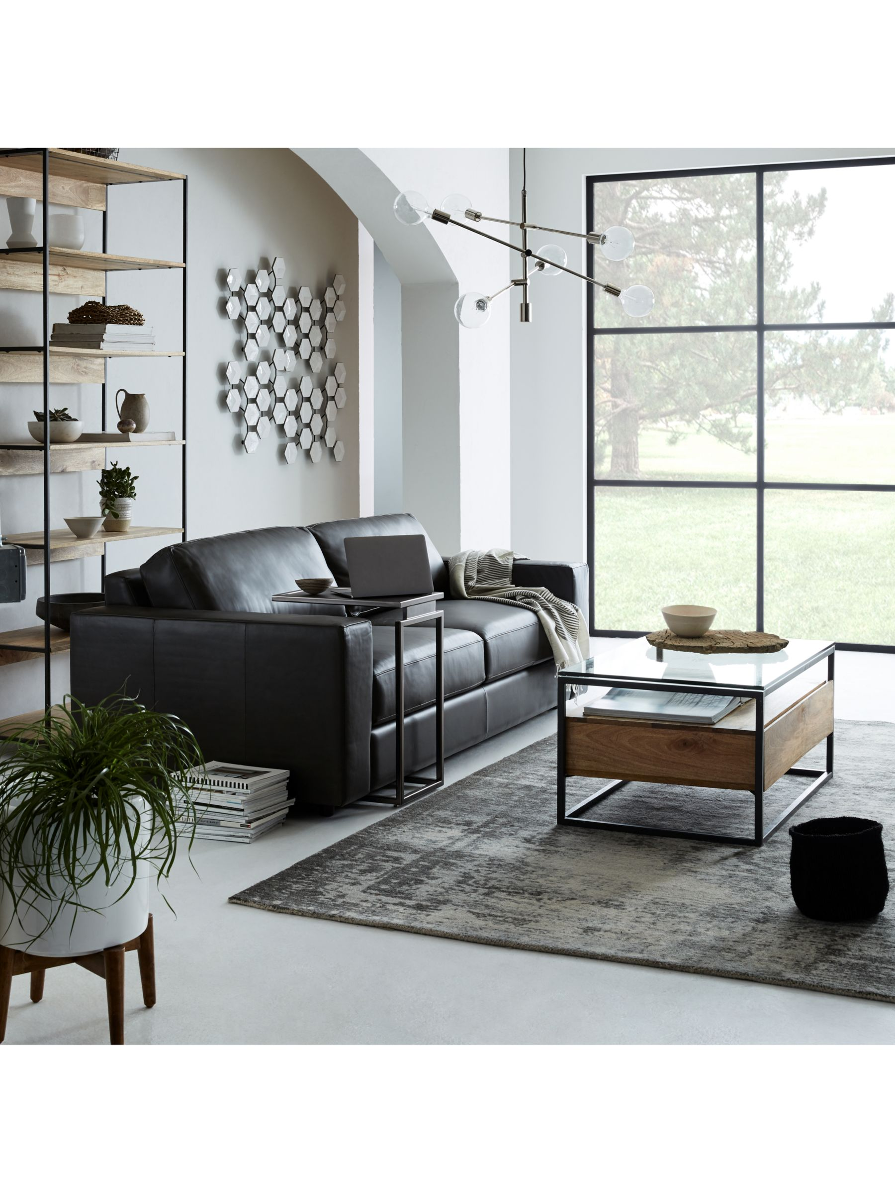 West Elm Industrial Storage Box Frame Coffee Table At John Lewis Partners