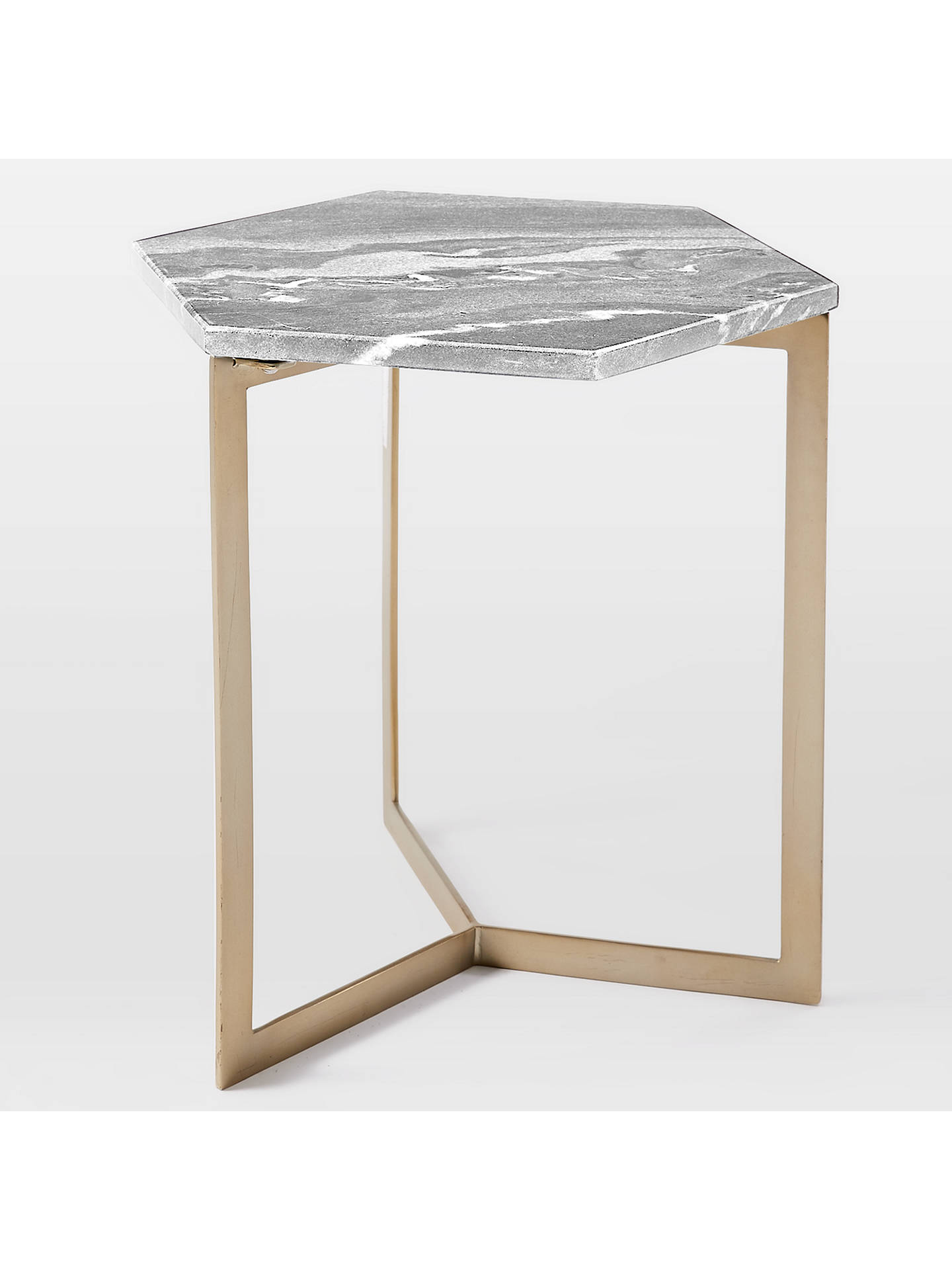 Buywest elm Hex Side Table, Grey Online at johnlewis.com