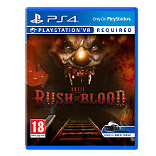 Buy Until Dawn: Rush Of Blood PS VR Game for PS4 Online at johnlewis.com