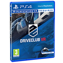 Buy Driveclub PS VR Game for PS4 Online at johnlewis.com
