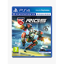 Buy RIGS Mechanised Combat League PS VR Game for PS4 Online at johnlewis.com