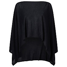 Buy Jacques Vert Knitted Wrap, Black Online at johnlewis.com