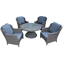 Buy 4 Seasons Outdoor Valentine 'Cosy Living' Garden Table & Chairs Set, High Back Design Online at johnlewis.com